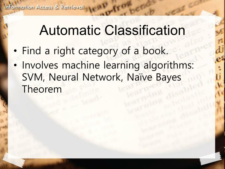 Automatic Classification