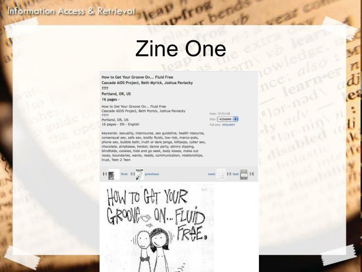 Zine One