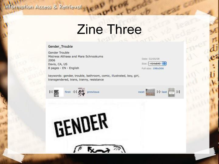 Zine Three