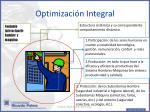 optimizaci n integral