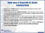 pasos para el desarrollo de dise o organizacional