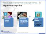 reas donde interviene la ergonom a 5 ergonom a cognitiva
