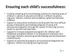 ensuring each child s successfulness