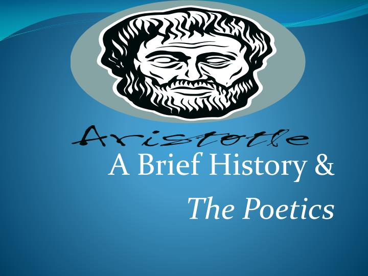 a brief history the poetics n.