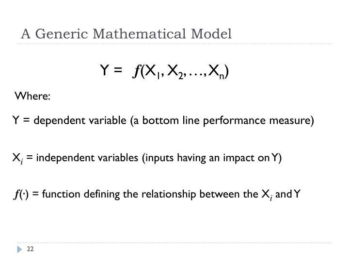 A Generic Mathematical Model