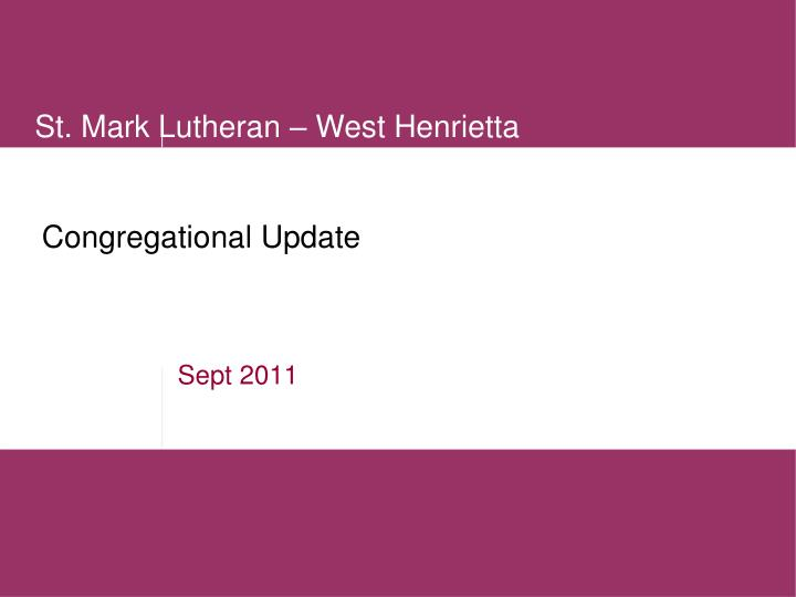 congregational update n.
