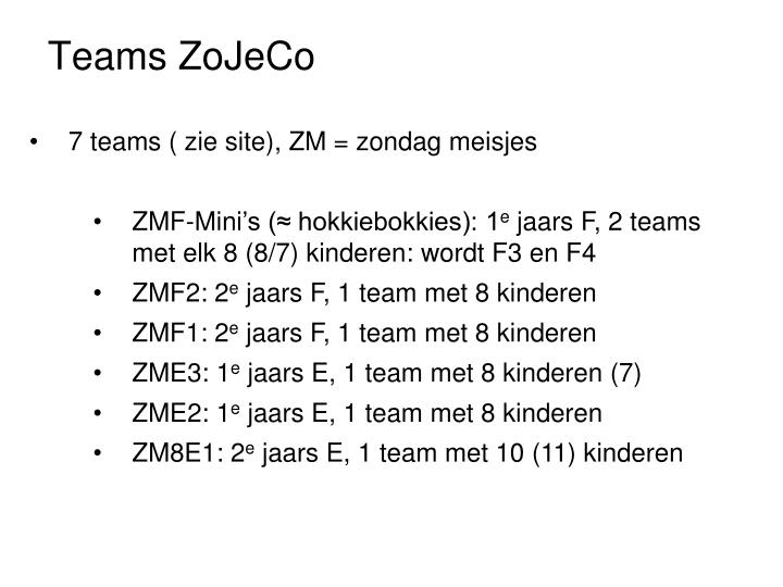 Teams ZoJeCo