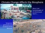 climate change affects the biosphere