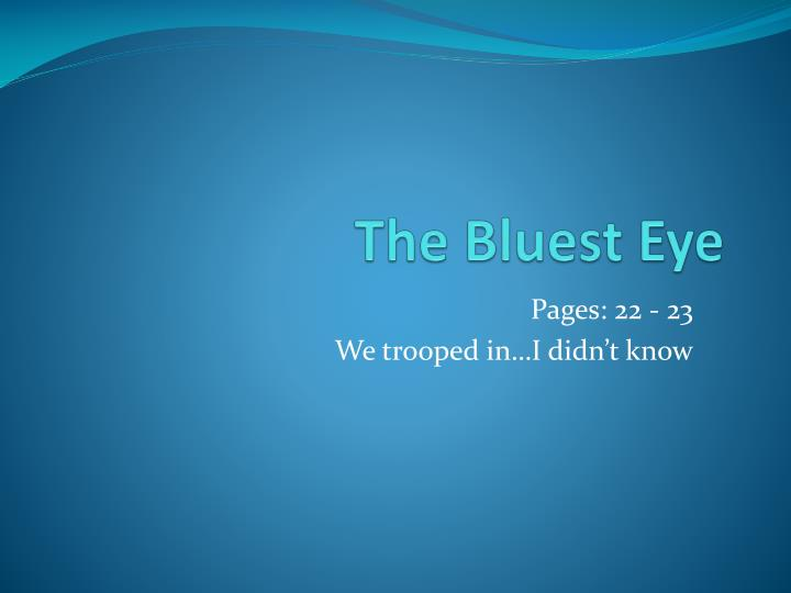 the bluest eye commentary