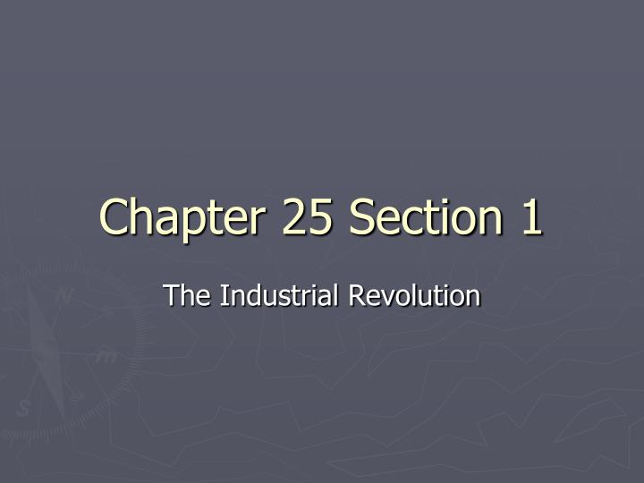 Chapter 25 section 1