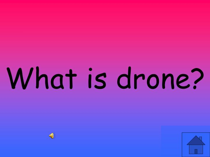 What is drone?