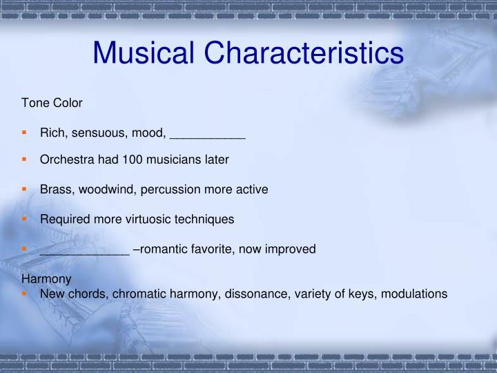 Musical Characteristics