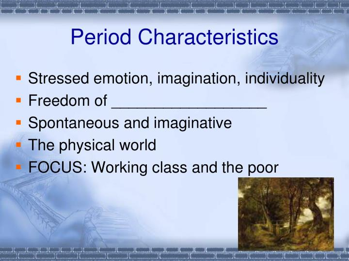 Period characteristics