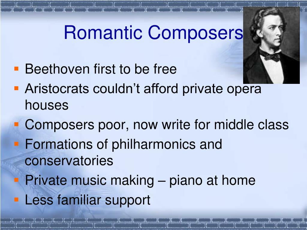 PPT - The Romantic Period (1820-1900) PowerPoint