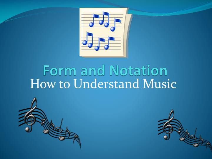 form and notation n.