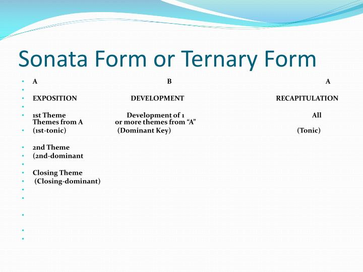 sonata form diagram ppt - form and notation powerpoint presentation - id:2046801