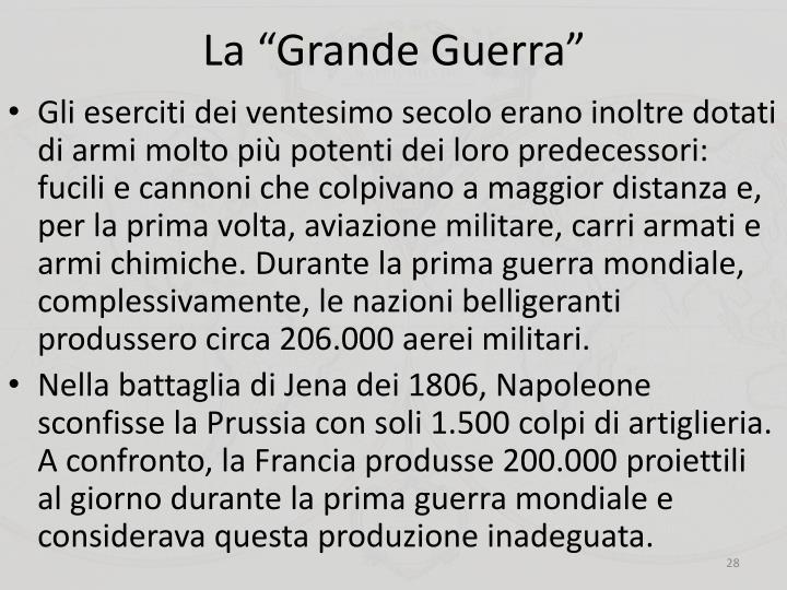 """La """"Grande Guerra"""""""