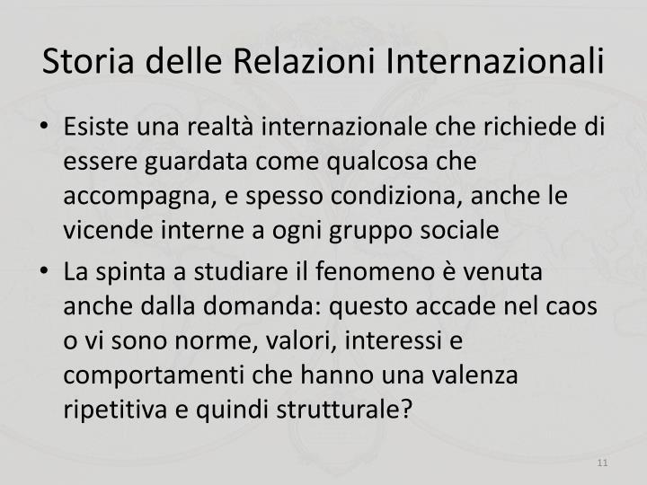 Storia delle Relazioni Internazionali