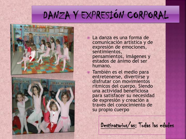 DANZA Y EXPRESIÓN CORPORAL
