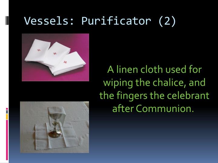 Vessels purificator 2