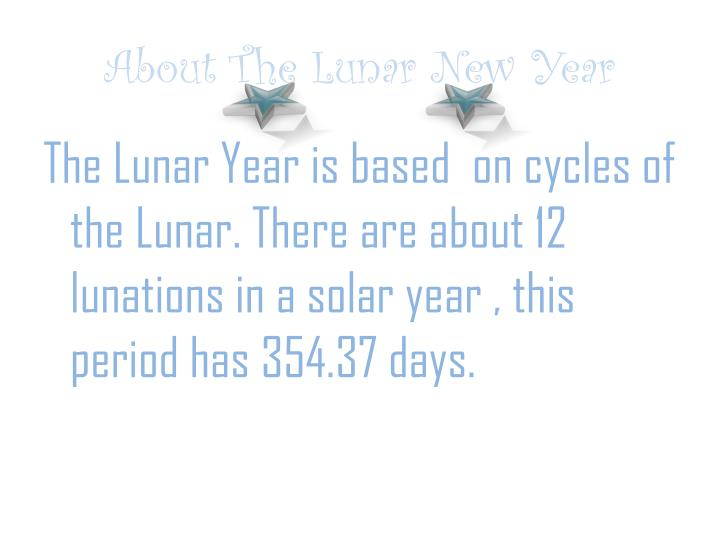 about the lunar new year n.