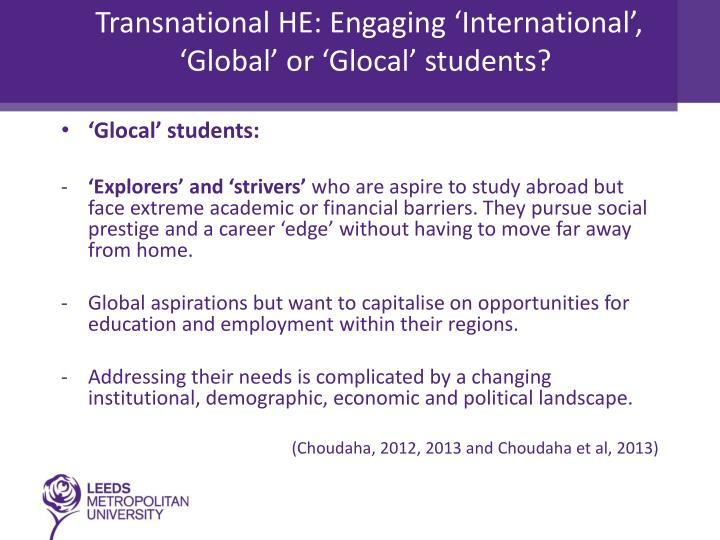Transnational HE: