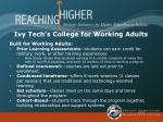 ivy tech s college for working adults