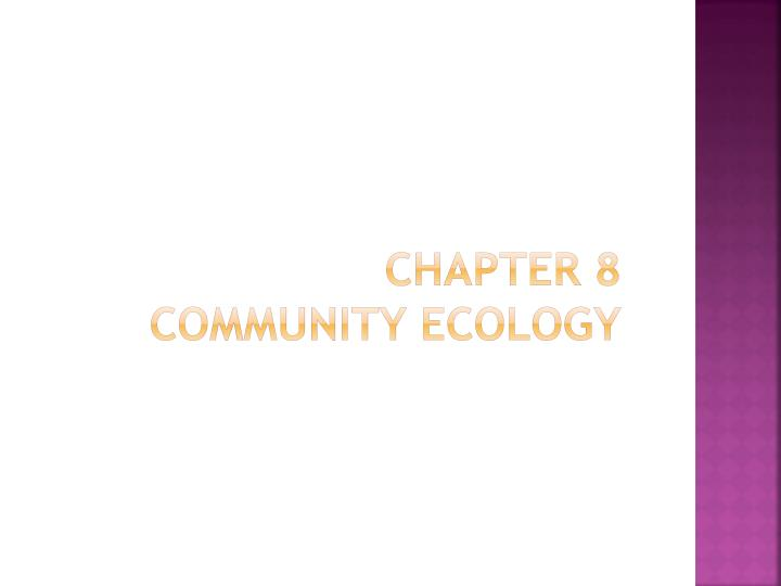 chapter 8 community ecology n.