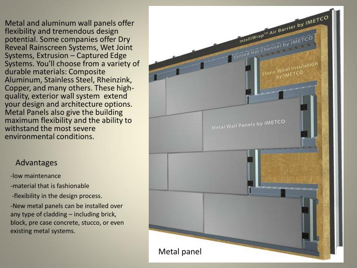 ppt cladding systems metal panels powerpoint presentation id