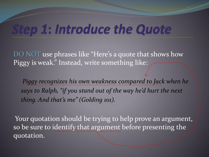 quotations essay powerpoint Morpholine synthesis essay segmentation targeting and positionning essay salmon essay biology unit 5 using quotations in essays powerpoint slides — silver.