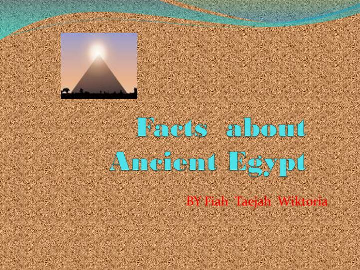 facts about ancient egypt n.
