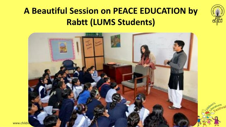 A Beautiful Session on PEACE EDUCATION by
