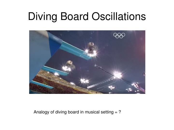 Diving Board Oscillations