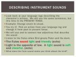 describing instrument sounds1