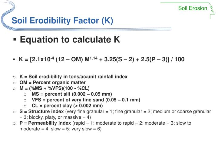 Equation to calculate