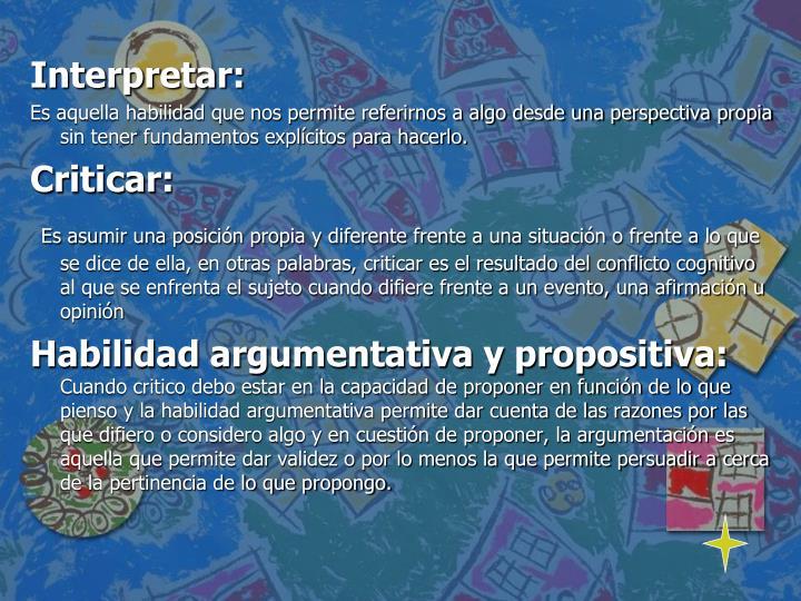 Interpretar: