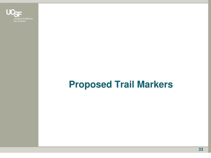 Proposed Trail Markers