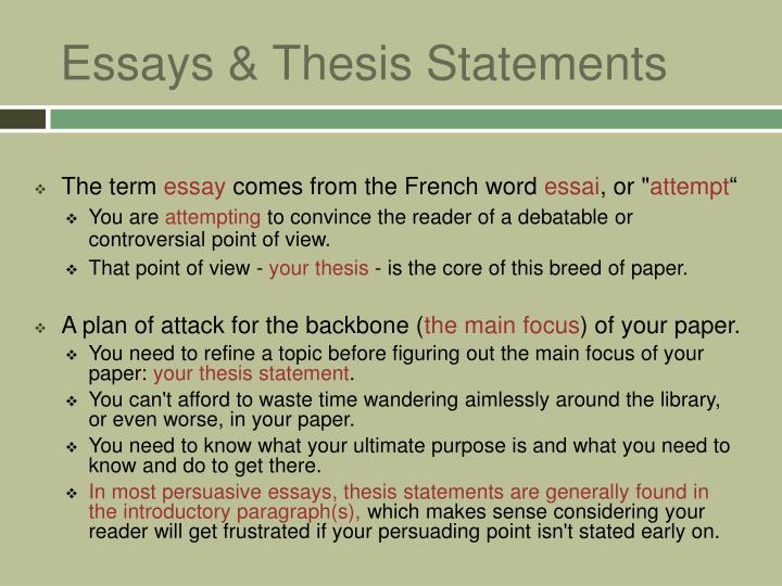 a thesis statement can be controversial The thesis is obviously true or is a statement of fact weak thesis: the flight from teaching to research and publishing in higher education is a controversial issue in the academic world.