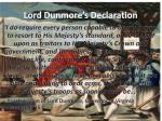 lord dunmore s declaration