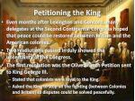 petitioning the king