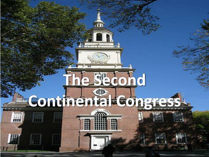 the second continental congress n.