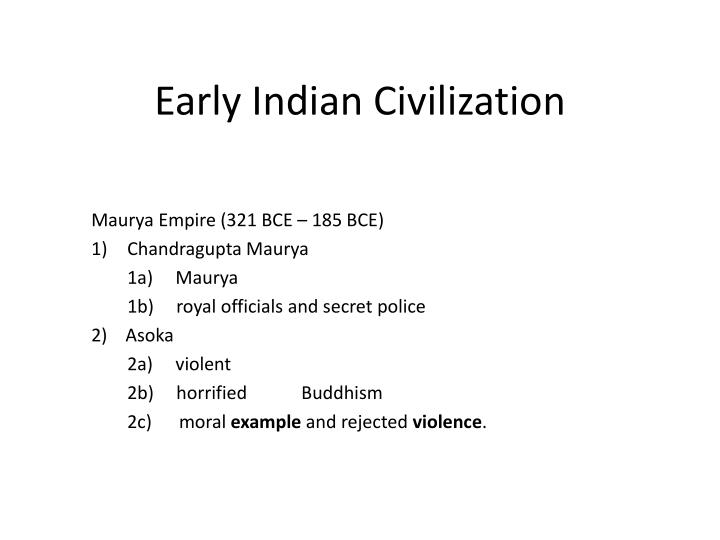 Early indian civilization1