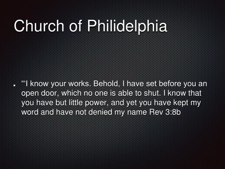 Church of Philidelphia