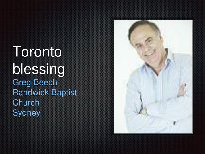 Toronto blessing