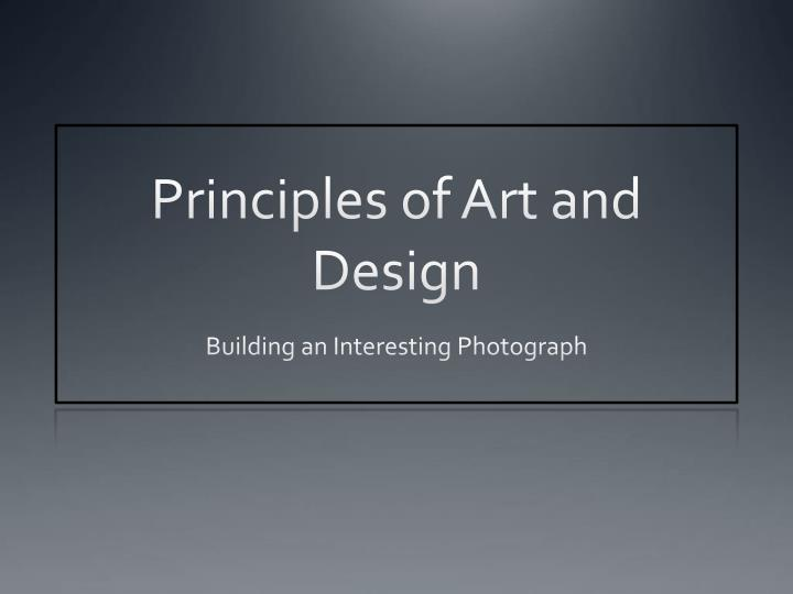 principles of art and design n.