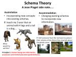 schema theory a jean piaget side note