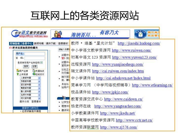 互联网上的各类资源网站