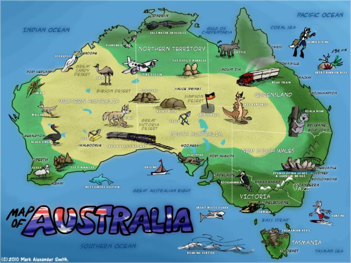 Australia Map Outback.Ppt The Australian Outback Powerpoint Presentation Id 2049039