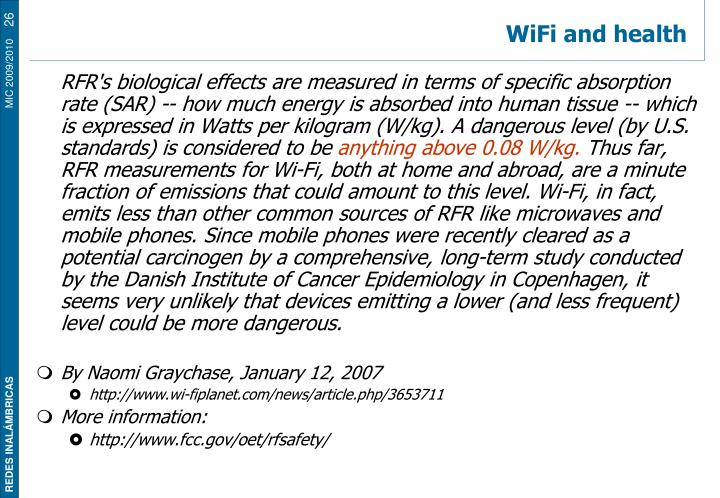 WiFi and health
