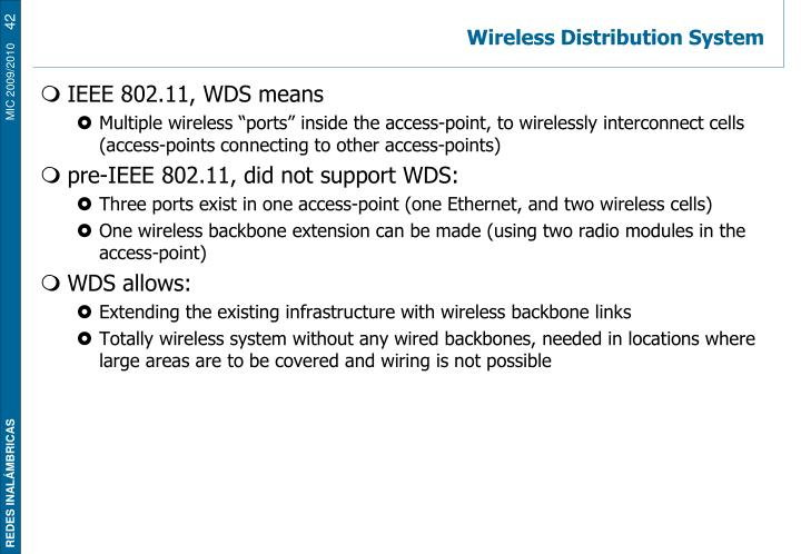 Wireless Distribution